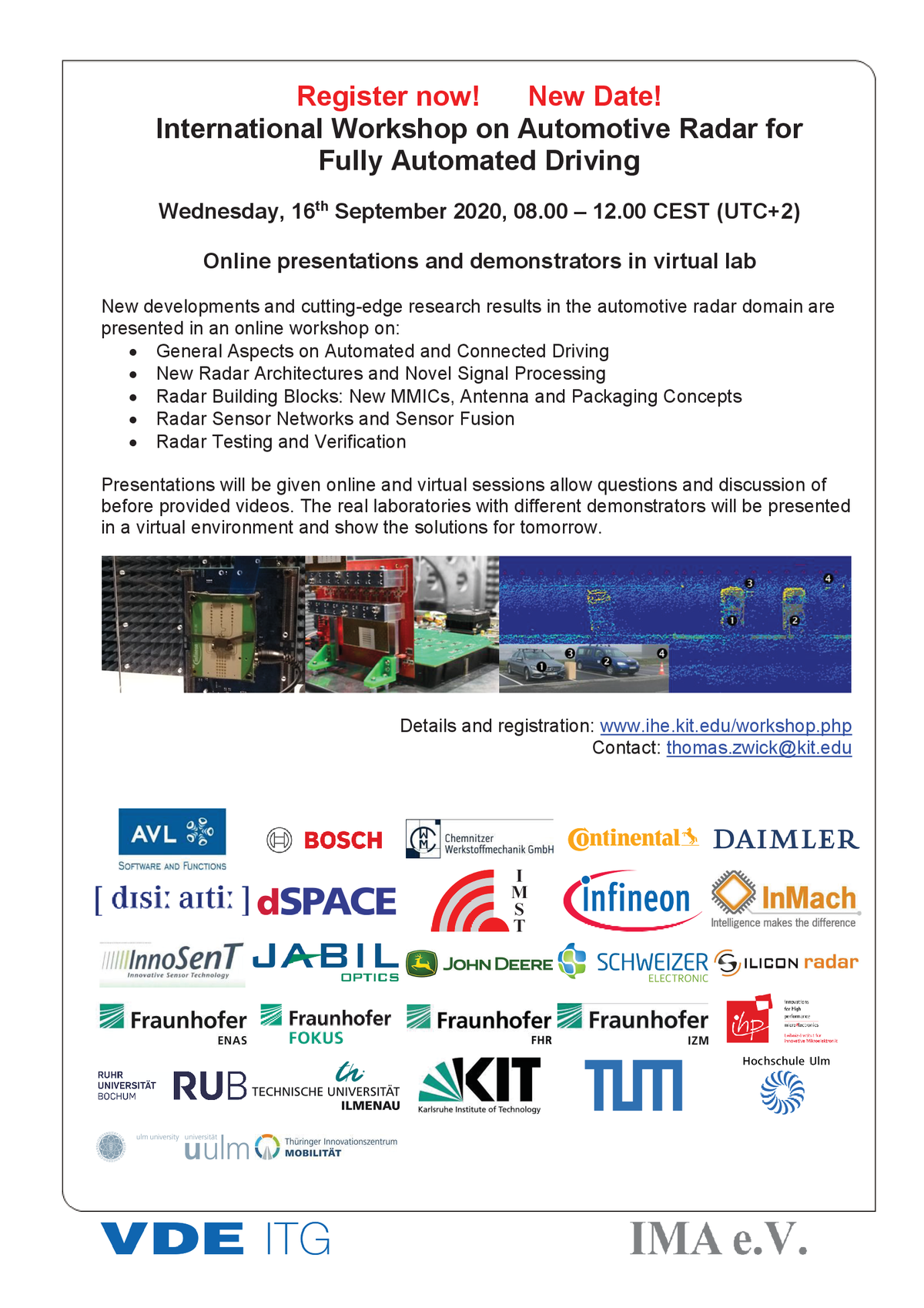 Flyer for International Workshop on Automotive Radar for Fully Automated Driving